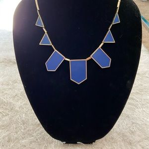 House of Harlow Blue Gold station necklace
